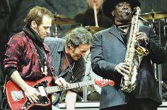 Niels Lofgren, Bruce Springsteen and Clarence Clemons