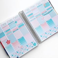 Flamingo Kit (7 Sheets Of Matte Planner Stickers) For July Erin Condren Life Planner