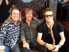 Me mates and me (Glenn Hughes)! Nico McBrain and Keith Emerson...