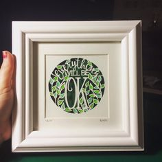 Paper cut quote, Paperlace by Louise dyer