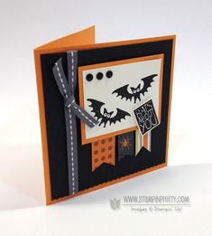 Halloween Hello stamp set - designed by Mary Fish, Independent Stampin' Up! Demonstrator. Details, supply list and more card ideas on http://stampinpretty.com/2013/09/stampin-up-halloween-hello-card-broom.html