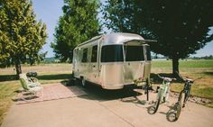 """This is a 2014 Airstream """"Bambi"""" for anyone who wants a modern experience in a retro feeling trailer. This one is a little bigger than a classic """"bullet"""" but doesn't lose any of the ambience."""