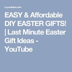 Diy cute easy easter treats cocos christina youtube easter diy cute easy easter treats cocos christina youtube easter ideas pinterest ideas diy and crafts and snacks negle Image collections