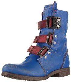 Amazon.com: FLY London Women's Stif Boot,Blue,39 EU/8 - 8.5 M US: Shoes