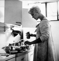 Kim Novak at home, 1956