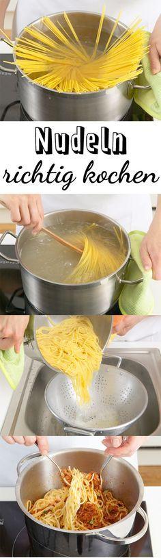 Soll man Nudeln abschrecken? Gehört Öl ins Kochwasser? Wir verraten 10 Tipps, mit denen Sie Nudeln richtig kochen. So gelingt die Pasta garantiert!