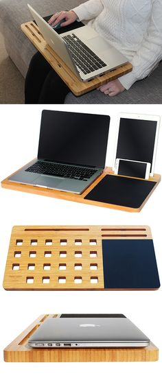 $39.95 • Australian small business • Portable workstation for laptops and devices • Anti heat ventilation • Built-in mouse pad • Super sleek design • Fits laptops up to 15""