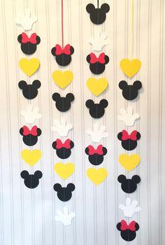 Set de Mickey y Minnie Garlands de garland 4 o 8 VERTICAL