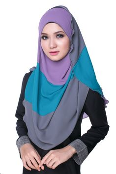 Bikaya Pastel Shawls and Scarves   FINI Rainbow Premium Hijab