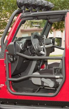 Rugged Ridge Front Tube Door Set in Textured Black for 07-13 Jeep® Wrangler  Wrangler Unlimited JK