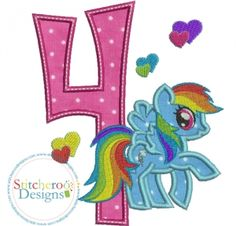 Rainbow Dash #4 -Comes in 3 sizes