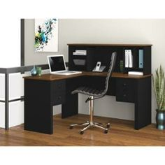 Bestar Somerville L-shaped Desk With Hutch Ber4585018