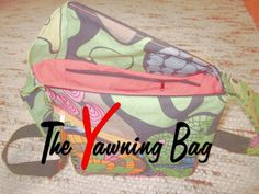 The Yawning Bag - Ebook Lunch Box, Blog, Etsy, Design, Zipper Bags, Sew Gifts, Kids Wagon, Handbags, Tutorials