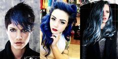 Συλλογή από μαύρα και μπλε μαλλιά για dark τυπάκια!