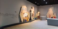 Museum Art Gallery, Signage Design, Exhibition Space, Wall Design, Display, Contemporary, Inspiration, Illustration, Crafts