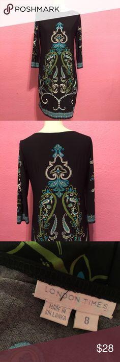 Beautiful long sleeve dress. Beautiful long sleeve dress. London Times Dresses Long Sleeve