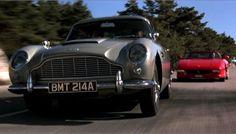 GOLDENEYE car - Aston Martin DB5 and Ferrari Spider 355.