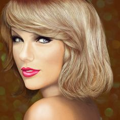 Taylor Swift colored digital drawing by JoeDieBestie.deviantart.com on @DeviantArt
