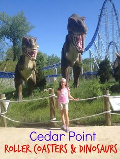 Read about our day at Cedar Point with Roller Coasters and Dinosaurs