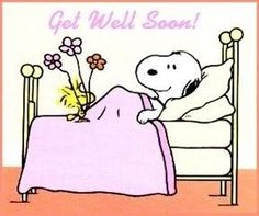 Snoopy Get Well Wishes to anyone who is not feeling well today.