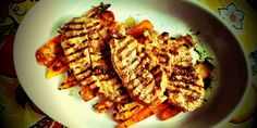 Collar steak with chorizo spice rub and grilled carrots