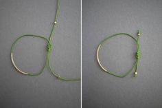 a sliding knot - great for making adjustable necklaces, bracelets and anklets. Any beads or charms need to be threaded on the cord before you tie the knots. Cute Jewelry, Diy Jewelry, Handmade Jewelry, Jewelry Making, Jewellery, Gold Armband, Armband Diy, Adjustable Knot, Adjustable Bracelet