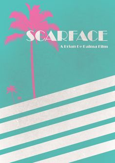 Scarface ~ Minimal Movie Poster by Vikrant Banerjee Music Film, Art Music, Dope Movie, Scarface Movie, Minimal Movie Posters, Alternative Movie Posters, Dope Art, Minimalist Poster, Graphic Design
