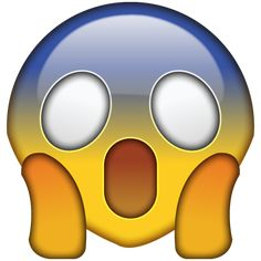 OMG Face Emoji PNG. Shocked and scared by something incredibly alarming? This emoji captures that feeling with its screaming face.