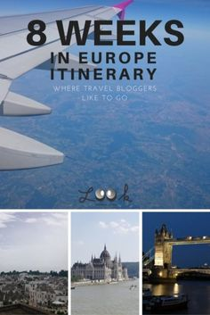 8 Week in Europe Itinerary - a selection of places recommended by travel bloggers