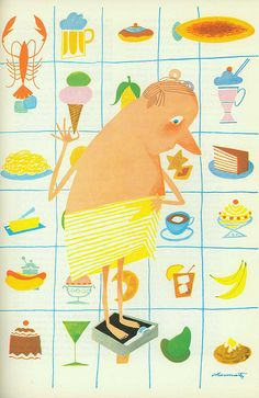 title: Esquire Cook Book illustrator: Charmatz introduction: Arnold Gingrich publisher: Crown Publishers, Inc. copyright: 1955 there are s. Album Jeunesse, Ligne Claire, Painting Wallpaper, Children's Book Illustration, Esquire, Book 1, Design Elements, Art For Kids, Poster