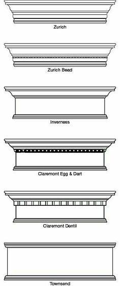 cornice- decrative strip at the area where the roof and wall meet Window Cornices, Window Coverings, Window Treatments, Valances, Pelmet Box, Wooden Cornice, Wood Valance, Hunter Douglas, Moldings And Trim