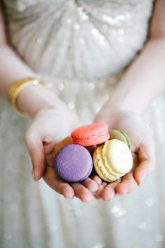bridal macaroons // photo by Angela & Evan Photography