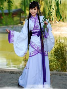 Women's Jacquard cotton Curved hem dress Han Dynasty Hanfu Clothing - USD $ 168.00