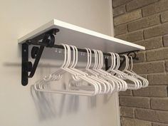 Laundry room organization – hanger idea Really like this with the shelves and clothes hanger. Laundry room organization – hanger idea Really like this with the shelves and clothes hanger. Laundry Room Shelves, Laundry Room Organization, Laundry Room Design, Laundry Rooms, Laundry Storage, Organization Ideas, Closet Shelves, Clothing Organization, Laundry Closet