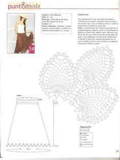 Andreia Lessa Tricô e Crochê: Saia de Croche
