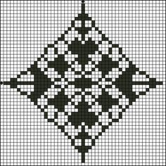 Free Counted Cross Stitch Pattern - Floral Diamond Four