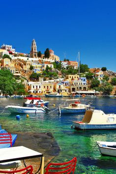 Halki Colorful Small Traditional Island Dodecanese Stock Photo (Edit Now) 151069907 Greek Islands To Visit, Best Greek Islands, Greece Islands, Best Honeymoon Destinations, Travel Destinations, Mykonos, Jardin Luxuriant, Places In Greece, Greek Isles