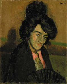 View Portrait of a Venetian woman; La Callera (Circa By Walter RichardSickert; oil on canvas; Access more artwork lots and estimated & realized auction prices on MutualArt. Walter Sickert, Avant Garde Artists, Impressionist Artists, Post Impressionism, Magazine Art, Art Market, Oil On Canvas, Art Gallery, Fine Art