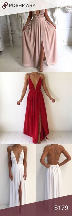 👗Classic Lovely Luxe Gown👗 SHOP WITH US TODAY: www.lovelyluxe.storenvy.com  ✨DIRECT LINK IN ABOUT SECTION OF MY PROFILE✨  🎉FREE SHIPPING TO U.S.🎉  We provide you with a tracking # the moment your package leaves our studio📬🌎  *shipping usually takes 7-20 days Nasty Gal Dresses Maxi