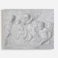 Cupids Playing from the V&A collection. Classical sculpture by Piat Joseph Sauvage, grisaille in imitaion of marble bas-relief, Flemish, late century Sculpture Art, Sculptures, Wall Art Wallpaper, Grisaille, Victoria And Albert Museum, Unique Image, Cupid, Wall Murals, Art Prints