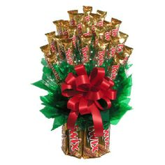 """All Twix™ Candy Bouquet"" for any occasion (Now available at most Kroger's in the floral section; if not, ask them or your local florist)."