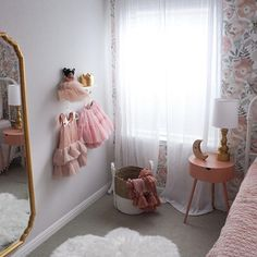 "Is a bedroom ever really ""finished""? Maybe not. But I've finally achieved a really cute result with my daughters bedroom and she loves it too, so that's good enough for now! For a full tour and links to all the items, click the link in my bio!-#girlsbedroom #pinkbedroom #littlegirlsroom #bedroomdecor #homedecor"