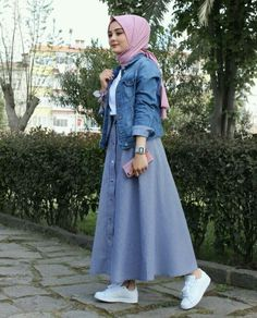 Style Hijab Casual Gendut 66 Ideas For 2019 Islamic Fashion, Muslim Fashion, Modest Fashion, Fashion Outfits, Hijab Casual, Hijab Outfit, Hijab Chic, Hijab Dress, Street Hijab Fashion