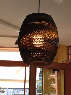 Cardboard lamp shades? All the rage in Northern Europe