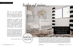 love the curtains and wall map in this nursery