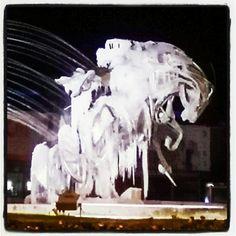 Cavall de l'estatua de la Dama de Gel. #Andorra