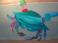 Colorful Crabby by JuxtaposeArt on Etsy, $45.00