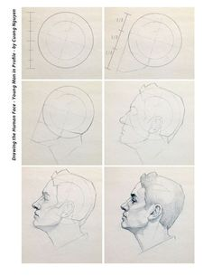 Male head in profile step by step by Cuong Nguyen https://www.facebook.com/icuong?fref=photo