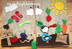 me and my 2 monsters: Felt crafts