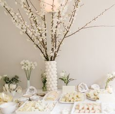 An all white baby shower in San Francisco.